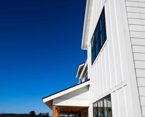 Modern white house blue sky