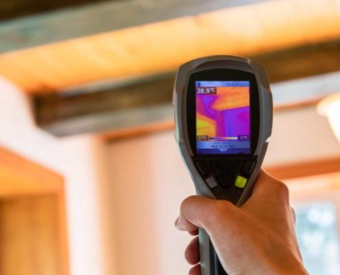 Using handheld Infrared Thermal Imaging camera
