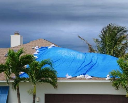 Roof fix after storm Wind Mitigation