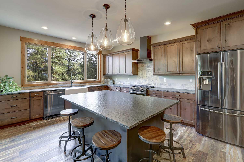 Luxury rustic style kitchen