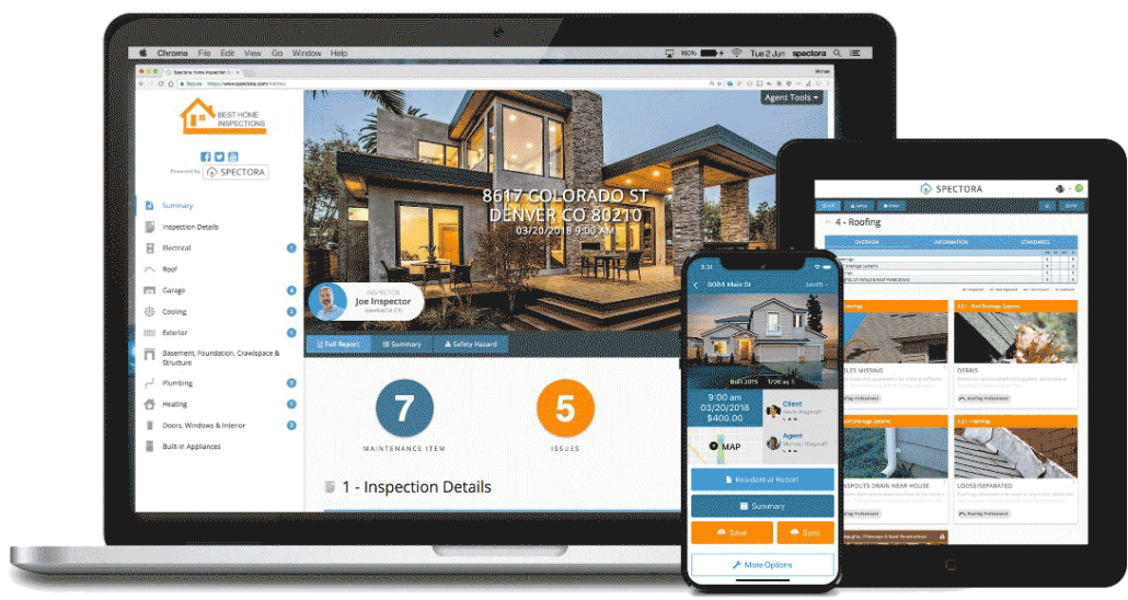 Spectora Home Inspection reports